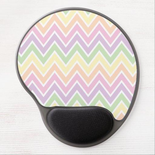 Pastel Chevron Stripe Gel Mouse Pad