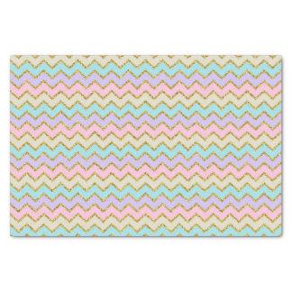 Pastel Chevron Stripes Tissue Paper
