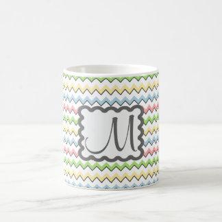 Pastel Chevron with Monogram by Shirley Taylor Coffee Mug