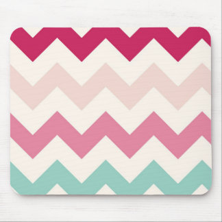 Pastel chevron zigzag stripes zig zag pattern chic mouse pad