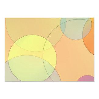Pastel Circles 13 Cm X 18 Cm Invitation Card