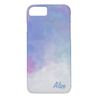 Pastel Clouds with Custom Name iPhone 7 Case