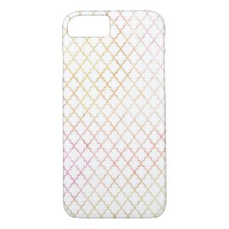 Pastel Color Modern Quatrefoil iPhone 7 Case