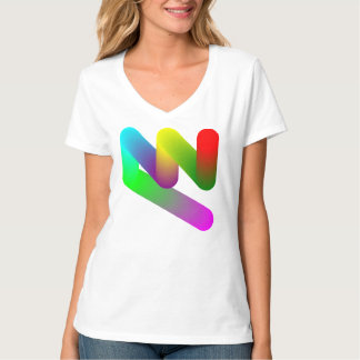 pastel color shape zigzag shirts