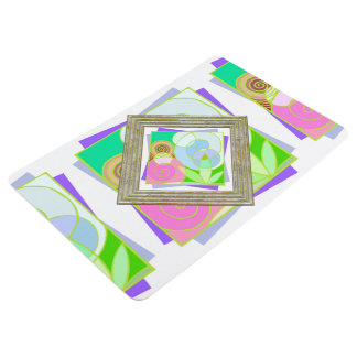 Pastel Colored Abstract Floor Mat