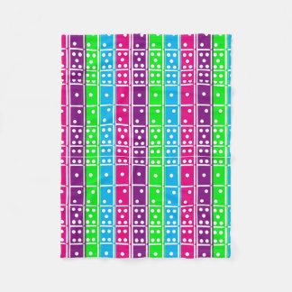 Pastel Colored Dominoes Fleece Blanket