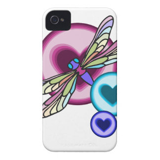 Pastel colored dragonfly with blue pink and purple iPhone 4 cover