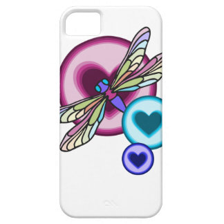 Pastel colored dragonfly with blue pink and purple iPhone 5 cases