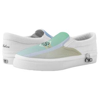 Pastel Colored Monogram Slip-On Shoes