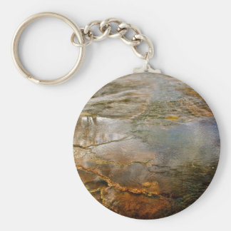 PASTEL COLORED VOLCANIC MINERALS IN YELLOWSTONE KEY RING