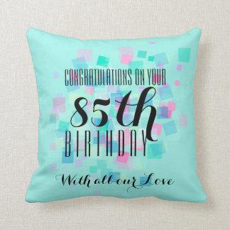 Pastel Colors 85th Birthday Custom Pillow 3