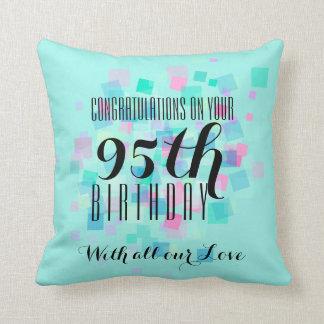 Pastel Colors 95th Birthday Custom Pillow 3