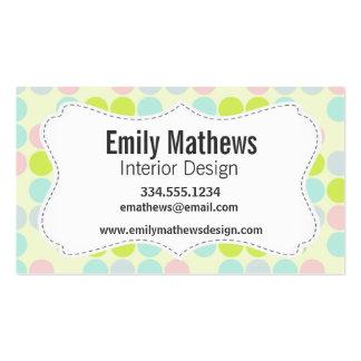 Pastel Colors Dot Pattern Business Cards