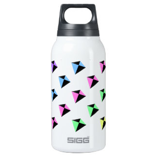 Pastel Colors Kite Pattern Insulated Water Bottle