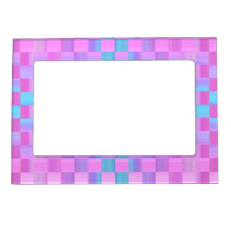 Pastel Colors  Mosaic Tile Pattern Photo Frame Magnets