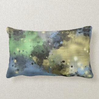 Pastel Colors Paint Splattered Abstract Lumbar Pillow