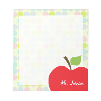 Pastel Colors Polka Dot Apple Notepads