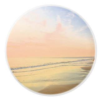 Pastel Colors Sandy Beach Tranquil Knob