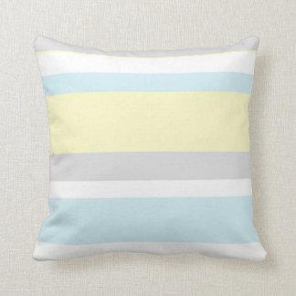 Pastel Colors Stripes Throw Pillow