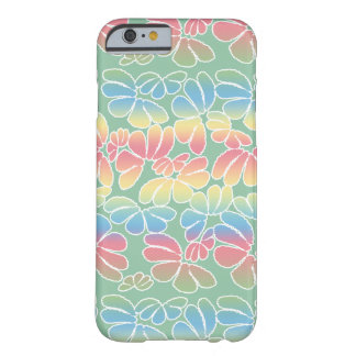 Pastel Colors Whimsical Ikat Floral Doodle Pattern Barely There iPhone 6 Case
