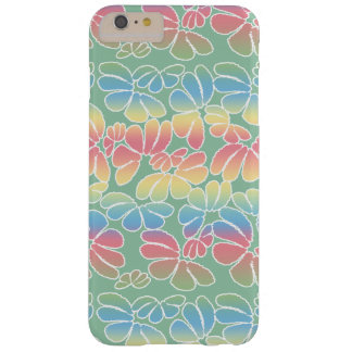 Pastel Colors Whimsical Ikat Floral Doodle Pattern Barely There iPhone 6 Plus Case