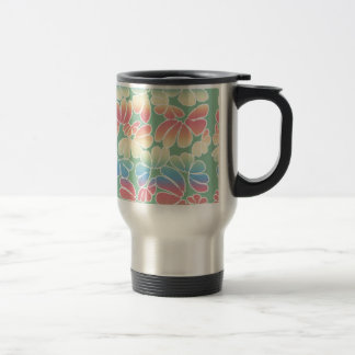 Pastel Colors Whimsical Ikat Floral Doodle Pattern Coffee Mugs
