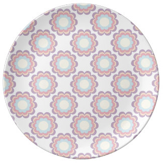 Pastel Colour Flower Pattern Porcelain Plates