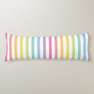 Pastel Colour Rainbow Stripes Pattern Body Cushion