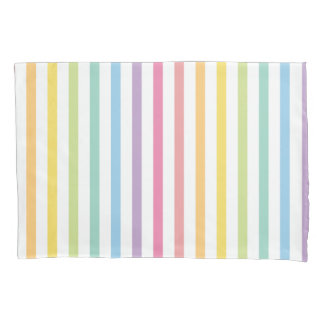 Pastel Colour Rainbow Stripes Pattern Pillowcase