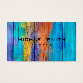 Pastel Coloured on Wood #10 Business Card