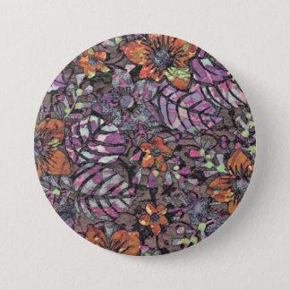 Pastel Colours floral pattern romantic digital art 7.5 Cm Round Badge
