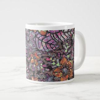 Pastel Colours floral pattern romantic digital art Giant Coffee Mug