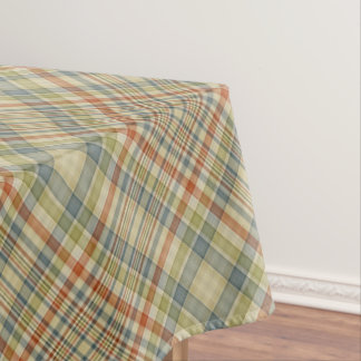 Pastel colours plaid pattern tablecloth