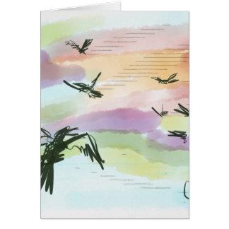 Pastel Crow Greeting Card