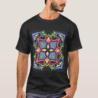 Pastel Design on Black  T-Shirt