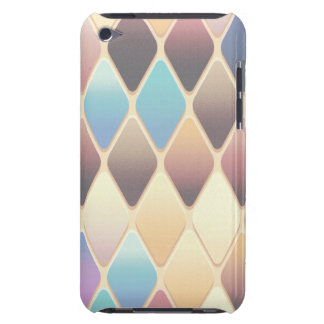 Pastel Diamond Mosaic Barely There iPod Cases