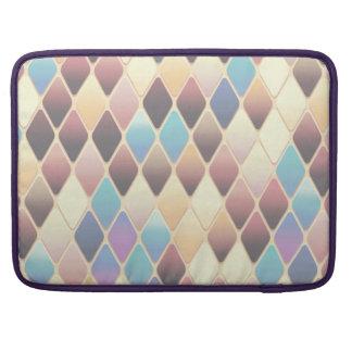 Pastel Diamond Mosaic Sleeve For MacBook Pro