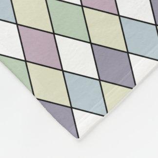 Pastel Diamonds Fleece Blanket