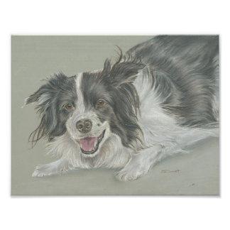 Pastel dog portrait print 8x10 photograph