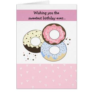 Pastel Donut Birthday Design Card