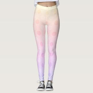 pastel dot leggings activewear