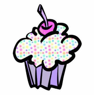 pastel dots cupcake photo cutout