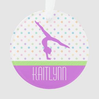 Pastel Dots Gymnastics Ornament