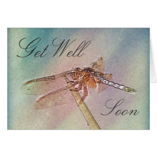 Pastel Dragonfly Get Well Cards