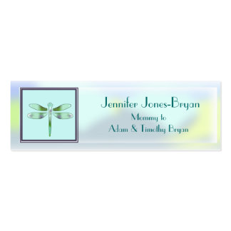 Pastel Dragonfly Profile Mummy Card Pack Of Skinny Business Cards