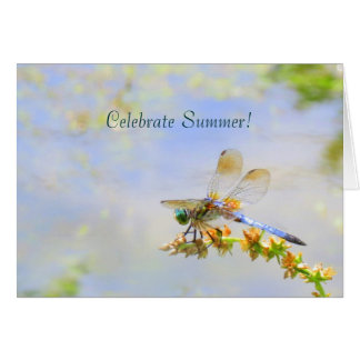 Pastel Dragonfly Summer Solstice Card