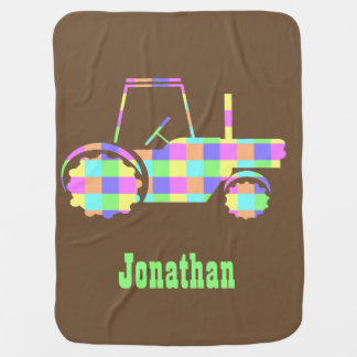 Pastel Easter Colored Custom Tractor Blanket