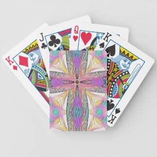 Pastel Easter Cross Artistic Stained Glass Pattern Bicycle Playing Cards