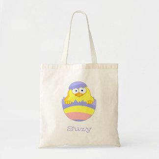 Pastel  Easter Egg Chick Tote Bag