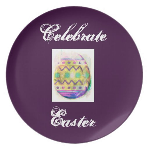 Pastel Easter Egg Decorative Plate